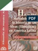 Hacia una metodología de la historia de las ideas (filosóficas) en América Latina.