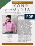 Beyond Magenta Press Release