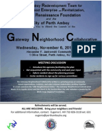 Gateway Neighborhood Collaborative Launch in Perth Amboy, NJ