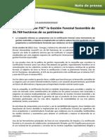 Ence certifica por FSC® la Gestión Forestal Sostenible de 26.769 hectáreas de su patrimonio