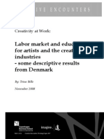 Labor market and education for artists and the creative industries - some descriptive results from Denmark