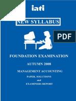 Managment Accounting Autumn 2008 PDF