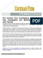 The Cochran Firm investigating claims arising from investigation into Baltimore/Towson Dr. John Yacoub