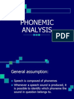 LECTURE 10 Phonemic Analysis (1)