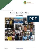 Deepam Newsletter_Q3 2013