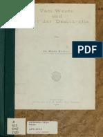 Kelsen, Vom Wesen Und Wert Der Demokratie 1920
