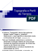 Topografia e Perfil Do Terreno