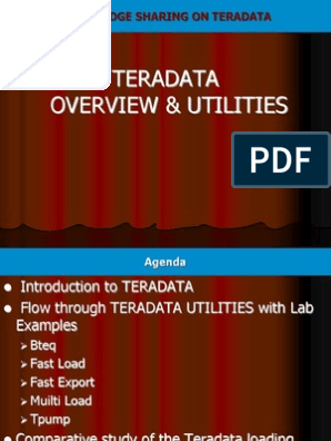 TERADATA PPT | Sql | Databases
