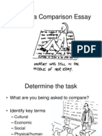 tips for a comparison essay