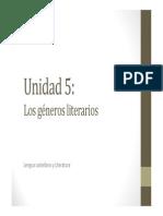 U5. Los géneros literarios (NARRATIVA)
