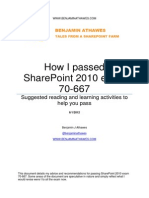 How I Passed SharePoint 2010 Exam 70-667 Benjamin Athawes