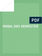 RMBA 3rd Semester (Section