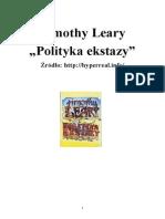Timothy Leary - Polityka Ekstazy