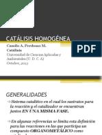 CATÁLISIS HOMOGÉNEA