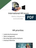 International HR ISSUES -Talent MAnagement