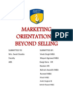 Marketing Orientation is Beyond Selling