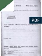 NCh 2472 Of2000 Aguas Residuales - Plantas Elevadoras - Especificaciones Generales