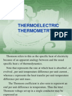 Thermo Electricity