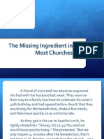 The Missing Ingredient in Most Churches