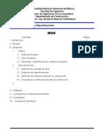Planos y Especificaciones
