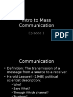 Intro to Mass Communication 1