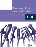 How share of voice wins market share, IPA Report July 09