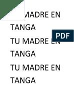 Tu Madre en Tanga