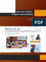 Relationship Between Ethics, Religion and Business