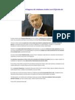 Netanyahu apoya el ingreso de cristianos árabes en el Ejército de Israel