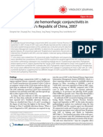 SOhourt Trebporret Ak of Acute Hemorrhagic Conjunctivitis In