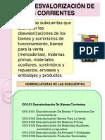 1310  DESVALORIZACIÓN DE BIENES CORRIENTES