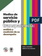 MEDIOS DE SERVICIO PUBLICO, indicadores y medicion de desempeño