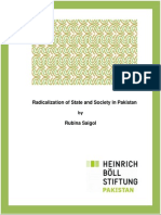 Radicalization of State and Society in Pakistan
