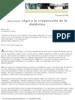Ruben Dri - Antonio Negri o La Evaporacin de La Dialctica