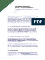 RECLAMAÇÃO TRABALHISTAREINTEGRAÇÃO ACIDENTE TRABALHO