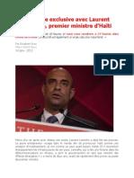 Entrevue exclusive avec Laurent Lamothe, premier ministre d'Haïti