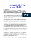 The Origin and Fate of the Pakistani Mullahs