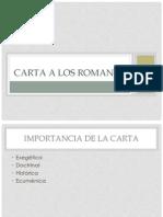 Carta a Los Romanos Especificaciones