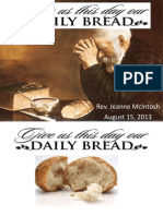 Give Us This Day Our Daily Bread Sermon