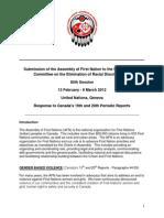 UN CERD Committee - AFN Shadow Report
