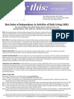 Index of Indendence in ADLs