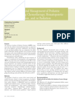 Guideline on Dental Management of Pediatric Patients Receiving Chemotherapy, HCT and-Or Radiatio