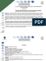 Convocatoria Diplomado Intervencion Psicosocial en Situaciones de Crisis