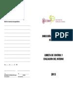 Libreta de Control y Evaluacion Del Interno