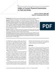 Reliability and Validity of the Foot and Ankle Exam (1)