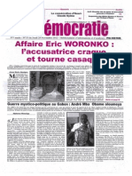 Affaire Woronko - l'accusatrice craque
