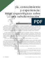 Pedagogía, conocimiento y experiencia Oscar Saldarriaga