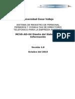 MCVS-AD-04 Diseño del Sistema de Información
