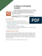 Cómo instalar Ubuntu 12