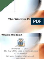 4 - The Wisdom Psalm